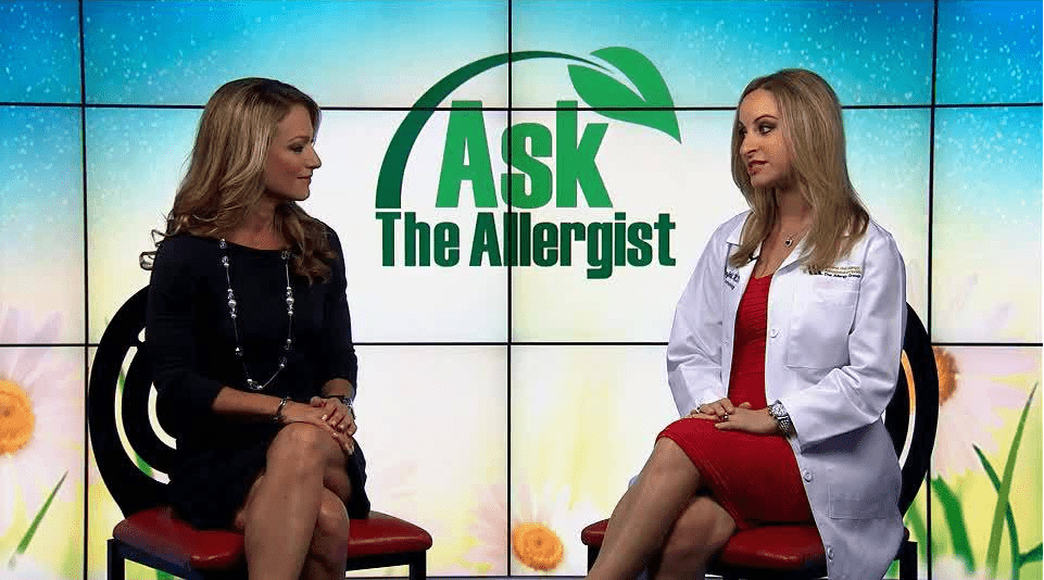 Dr. Michelle Eisenfeld talks about allergy shots on NBC 6 segment, Ask the Allergist!
